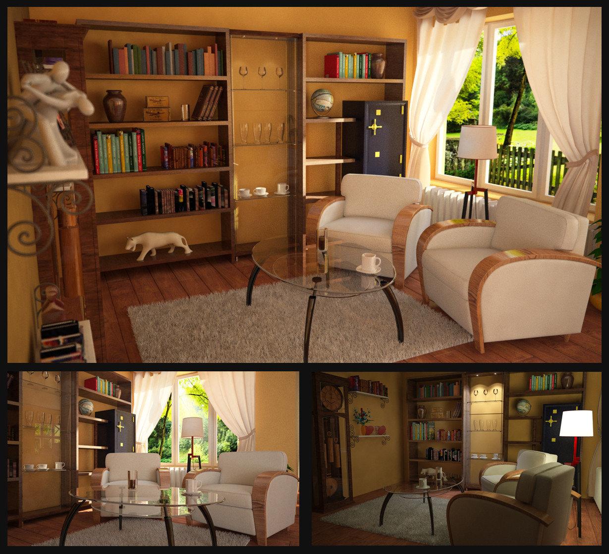 3D grafika - szoba